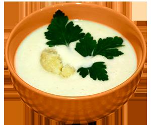 Молочный суп с брокколи