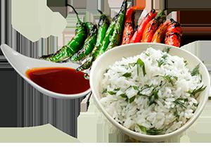 Рис с укропом