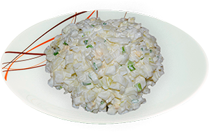 Салат из репчатого лука с яйцом