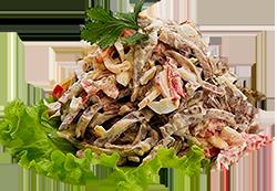 Салат с говядиной Русский букет