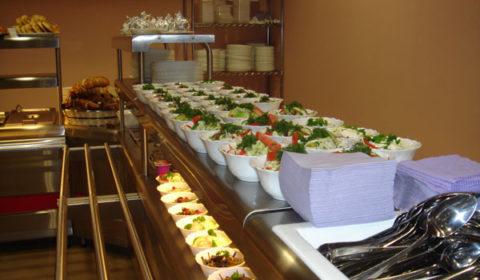 Секция раздачи для холодных блюд